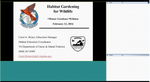 habitat gardening webinar intro slide
