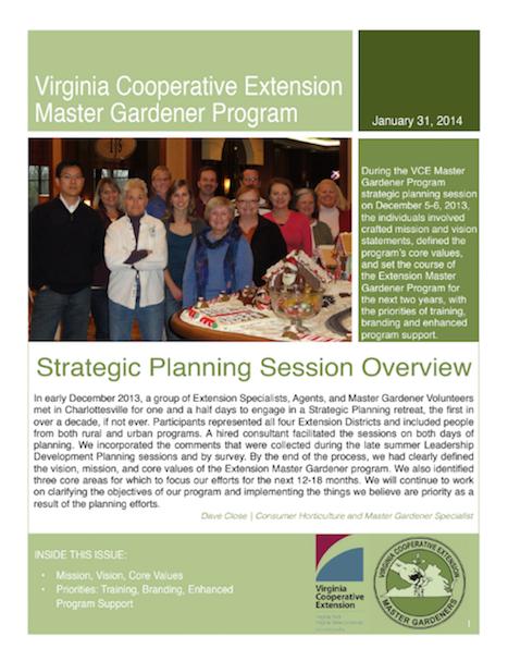 2014 strategic planning update